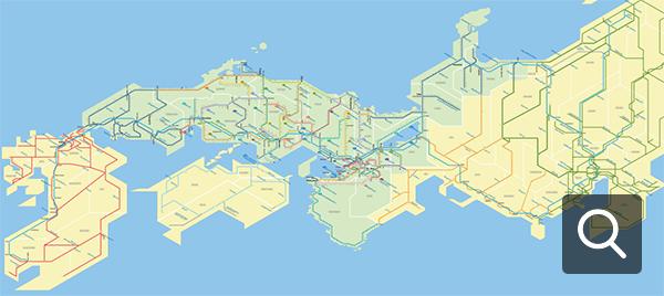 Mappa degli itinerari