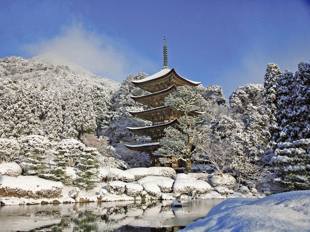 National Treasure Ruriko-ji Five Storey Pagoda_4