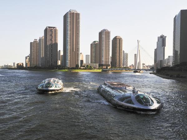 Croisière sur le fleuve Sumida-gawa (Hotaluna)